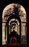 Ancient repetitive stone Hindu temples. Pashupatinath, Nepal Royalty Free Stock Photography
