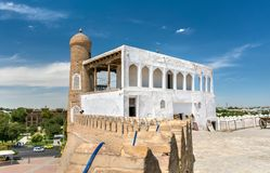 Ancient residence of Emir at the Ark Fortress in Bukhara, Uzbekistan Stock Photo