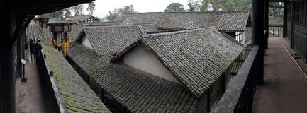 The ancient residential rooftop panoramic. Sichuan Province south of the ancient folk houses, built in the Ming Dynasty Wanli is a national key cultural relics Royalty Free Stock Photos