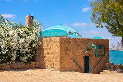 Ancient restaurant in Jaffa, Israel. Stock Images