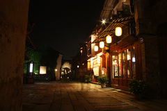 Ancient restaurant at night Royalty Free Stock Image