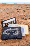 Ancient Retro Musicassette stock images