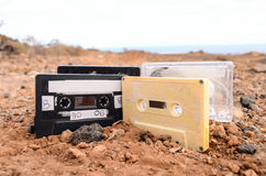 Ancient Retro Musicassette Stock Image
