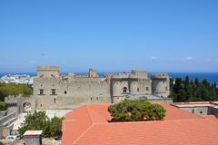 Ancient Rhodos. Ancient part of beutifull city Rhodos Rhodes royalty free stock images
