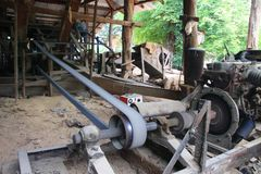 The ancient rice mill is also available in Thailand. The ancient rice mill is also available in Thailand stock photos