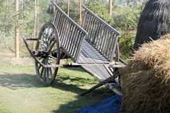 Ancient rickshaw thailand stock image