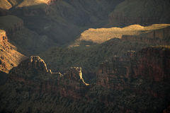 Ancient ridges of the Grand Canyon Royalty Free Stock Images