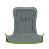 Ancient RIP. Grave isolated. Old gravestone with cracks. tomb on Royalty Free Stock Photo