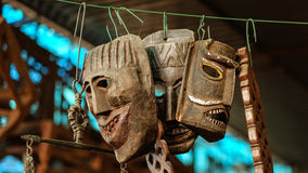 Ancient Ritual Masks of India [Fort Kochi, India - December 2015 ] Stock Photography