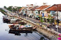 Ancient riverside city Stock Photo