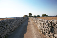 Ancient road. In sicily italy Stock Photos