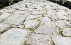 Ancient road in Pompeii Stock Photos