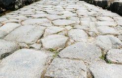 Ancient road in Pompeii Stock Photos