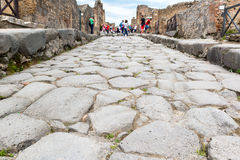 Ancient road in Pompeii, Italy Royalty Free Stock Photography