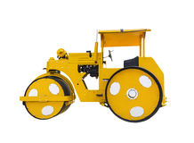 Ancient road roller Stock Images