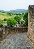 Ancient road of Spanish town Ronda Stock Image