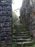 Ancient road steps stock photography