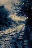 Ancient road. Road to the mausoleum Dzhanіke Khanum royalty free stock photos