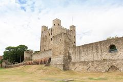Ancient rochester castle in kent uk england. Ancient rochester castle in kent united kingdom england Royalty Free Stock Photography