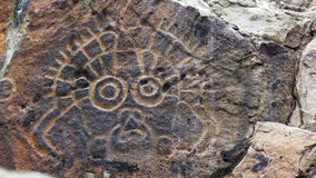 Ancient rock art. Famous ancient rock art in Ningxia,China Stock Photography