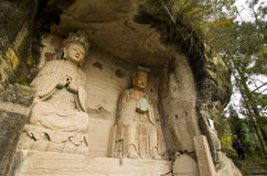 Ancient rock carving in China Stock Photography