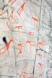 Ancient rock carvings royalty free stock photography