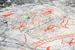Ancient rock carvings Royalty Free Stock Image