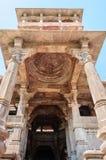 Ancient rock curved temples of Hindu Gods and goddess. At Mandore garden, Jodhpur, Rajasthan, India Royalty Free Stock Photos