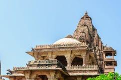 Ancient rock curved temples of Hindu Gods and goddess. At Mandore garden, Jodhpur, Rajasthan, India Stock Image