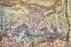 Ancient rock drawing Royalty Free Stock Images
