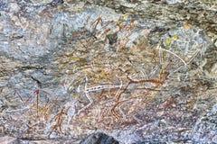 Ancient rock drawing Stock Image