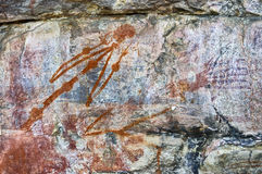 Ancient rock drawing Stock Photos