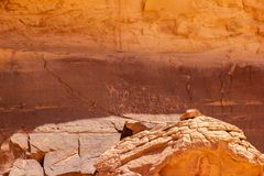 Ancient Rock Drawings, Jordan Royalty Free Stock Photography
