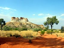 Outback Ancient Rock. Ancient Rock Formation on a beautiful Australian outback day Stock Image
