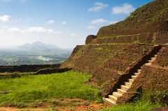 Ancient rock fortress and palace Stock Photography