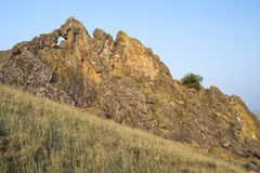Ancient rock, geological reservation Stock Photography