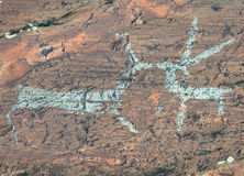 Ancient rock paintings Royalty Free Stock Photos