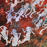 Ancient Rock paintings, Namibia Stock Photography