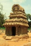 Ancient Rock Temple, Called Five Rathas , India Stock Images