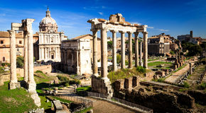 The ancient Roma. The ruins tell us how Roma was 2000 years ago stock photo