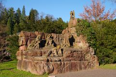 Ancient Romain monument in Baden-Baden, Germany Stock Photo