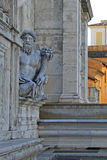Ancient Roman allegory of Nile River. Capitoline Hill, Rome, Italy Stock Photos