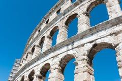 Ancient Roman Amphitheater. In Pula, Croatia. Famous tourist destination Royalty Free Stock Images