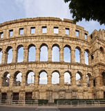 Ancient Roman Amphitheater. The Ancient Roman Amphitheater in Pula, Croatia Royalty Free Stock Photos