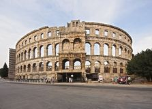 Ancient Roman Amphitheater Royalty Free Stock Image