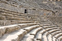 Ancient roman amphitheater Aspendos. Stock Photos
