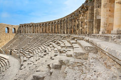 Ancient Roman Amphitheater Aspendos. Stock Images