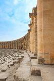 Ancient roman amphitheater Aspendos. Royalty Free Stock Photography