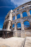 Ancient Roman Amphitheater and Church in Pula, Istria, Croatia Stock Photography