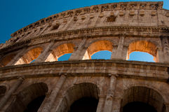 Ancient roman amphitheater Colloseum, Rome royalty free stock photography